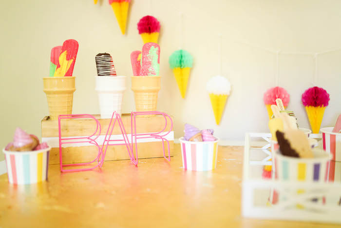 Popsicle Bar from an Outdoor Ice Cream Bar Party on Kara's Party Ideas | KarasPartyIdeas.com (31)