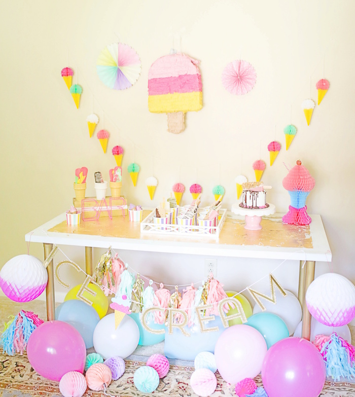 Outdoor Ice Cream Bar Party on Kara's Party Ideas | KarasPartyIdeas.com (28)