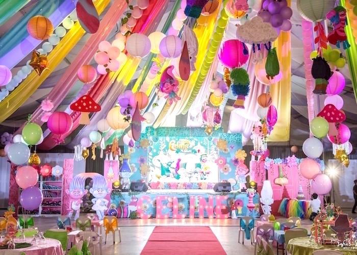 Rainbow Trolls Birthday Party on Kara's Party Ideas   KarasPartyIdeas.com (14)