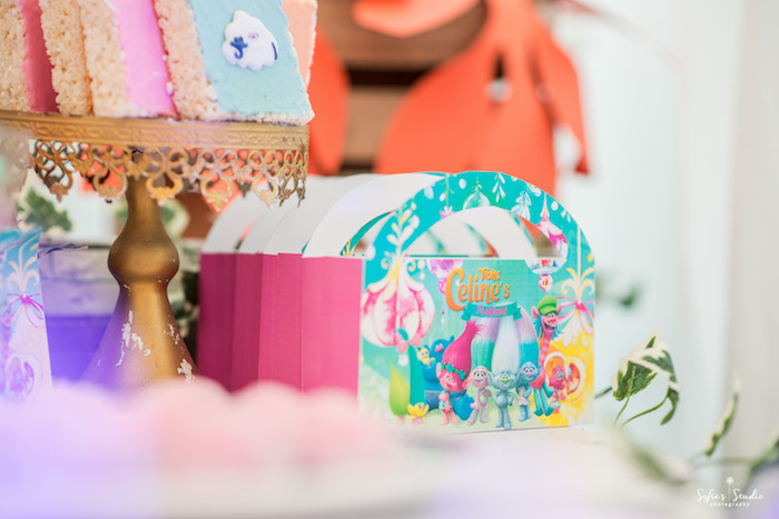 Troll favor boxes from a Rainbow Trolls Birthday Party on Kara's Party Ideas | KarasPartyIdeas.com (20)