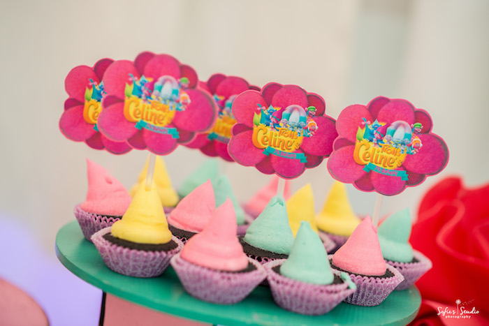 Troll tarts + cupcakes from a Rainbow Trolls Birthday Party on Kara's Party Ideas | KarasPartyIdeas.com (18)