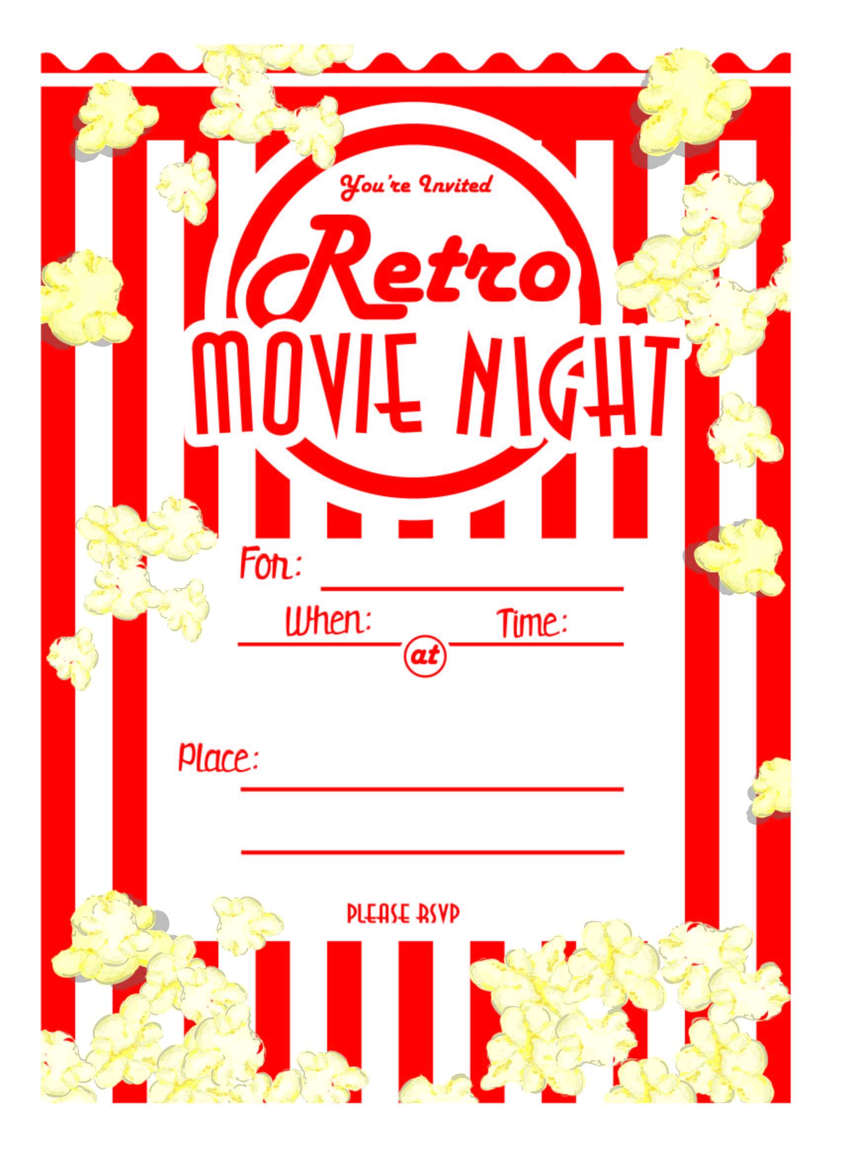 kara u0026 39 s party ideas movie night party with free printables
