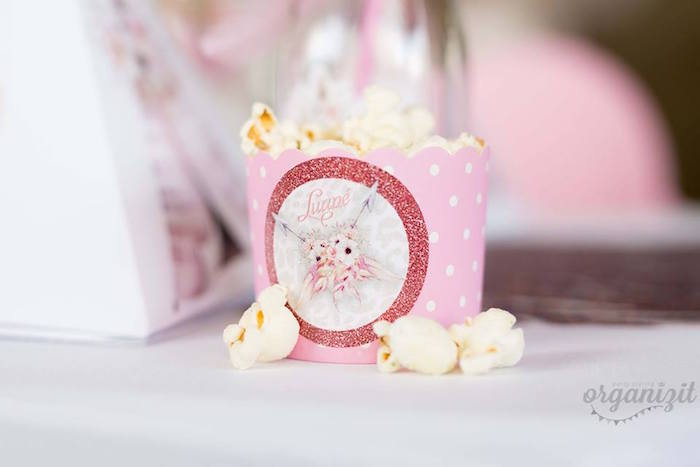 Boho popcorn cup from a Rose Gold Boho Birthday Party on Kara's Party Ideas | KarasPartyIdeas.com (16)