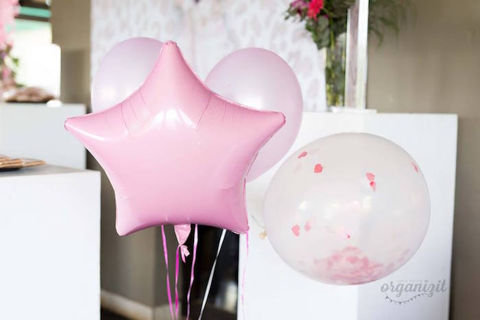 Balloons from a Rose Gold Boho Birthday Party on Kara's Party Ideas | KarasPartyIdeas.com (13)