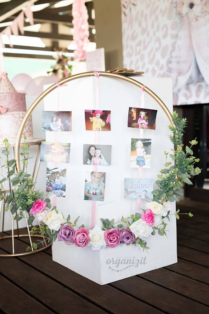 Boho circle from a + photo highlight board from a Rose Gold Boho Birthday Party on Kara's Party Ideas | KarasPartyIdeas.com (8)