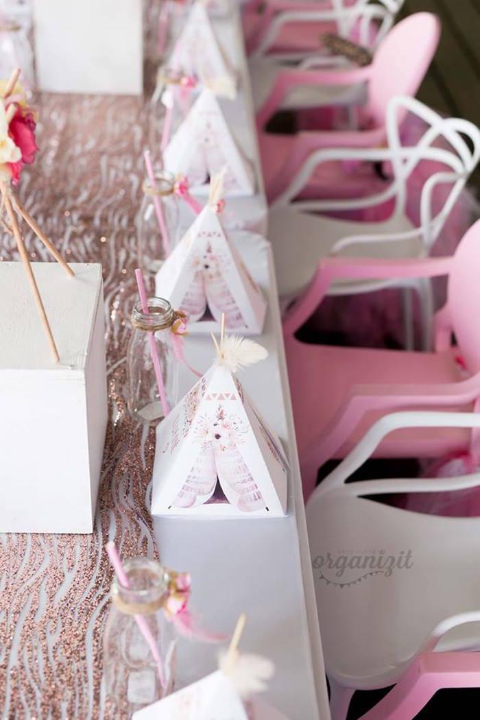 Kara S Party Ideas Rose Gold Boho Birthday Party Kara S