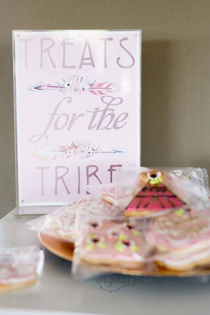 Treats for the Tribe Sign from a Rose Gold Boho Birthday Party on Kara's Party Ideas | KarasPartyIdeas.com (21)