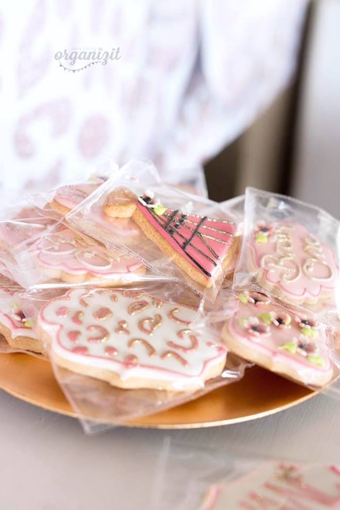 Cookies from a Rose Gold Boho Birthday Party on Kara's Party Ideas | KarasPartyIdeas.com (18)