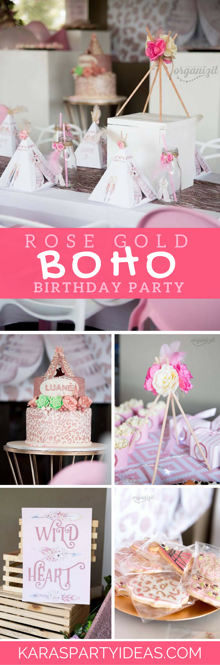 Kara S Party Ideas Rose Gold Boho Birthday Party Kara S