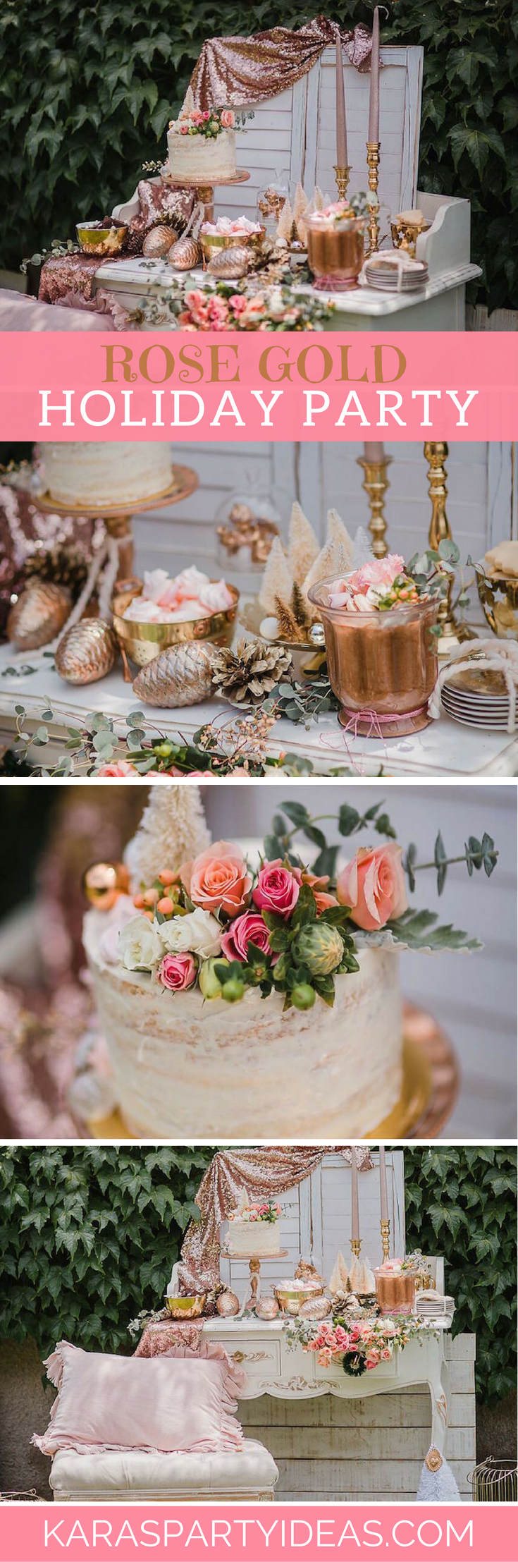 Rose Gold Holiday Party via Kara's Party Ideas - KarasPartyIdeas.com (1)