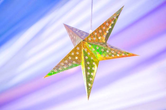 Hanging star decoration from a Royal Prince Birthday Party on Kara's Party Ideas | KarasPartyIdeas.com (21)