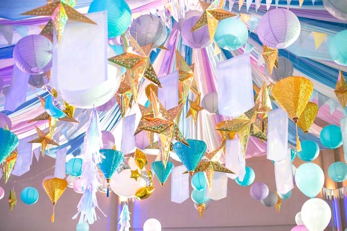 Overhead bunting from a Royal Prince Birthday Party on Kara's Party Ideas | KarasPartyIdeas.com (16)