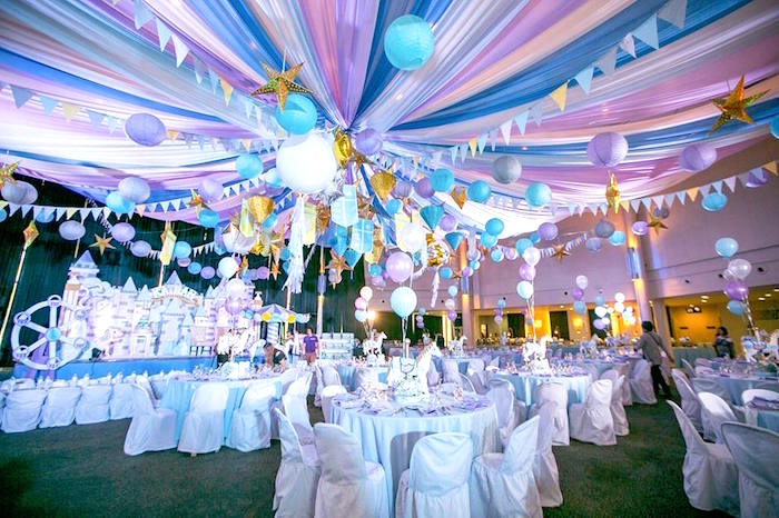 Guest tables from a Royal Prince Birthday Party on Kara's Party Ideas | KarasPartyIdeas.com (15)