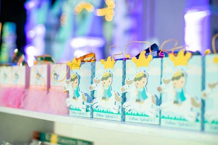Prince favor bags from a Royal Prince Birthday Party on Kara's Party Ideas | KarasPartyIdeas.com (31)