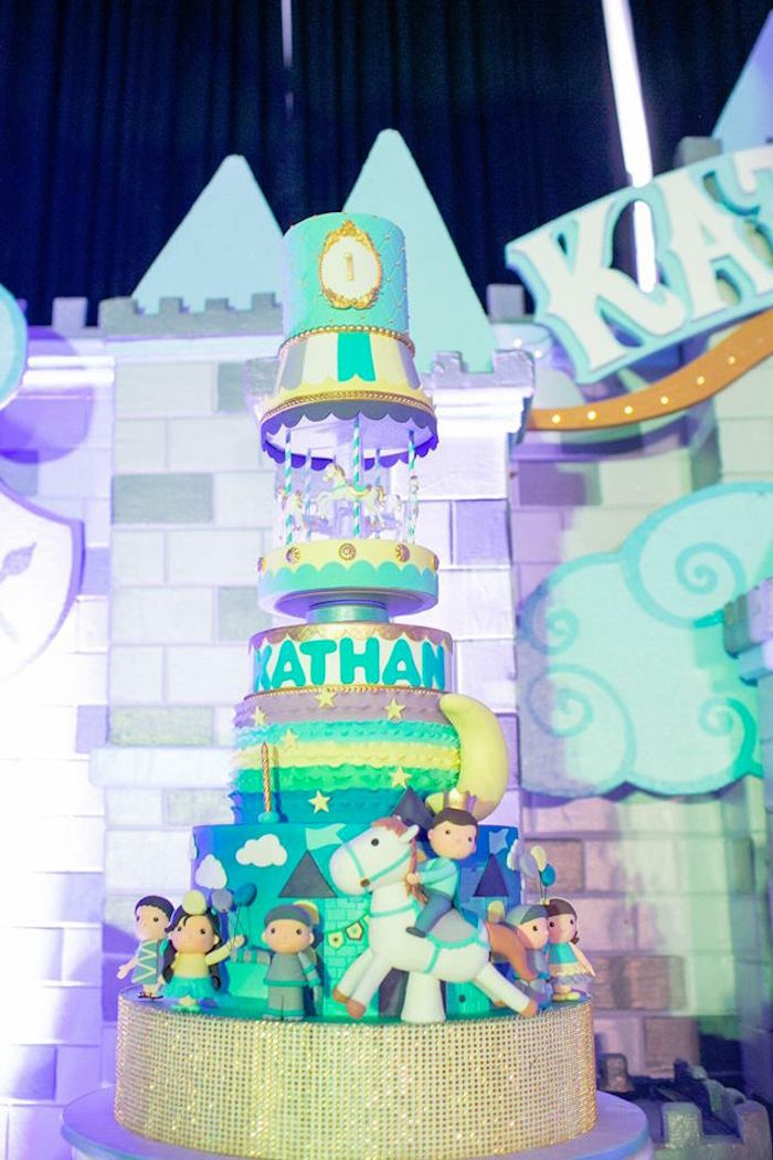 Prince Cake from a Royal Prince Birthday Party on Kara's Party Ideas | KarasPartyIdeas.com (10)