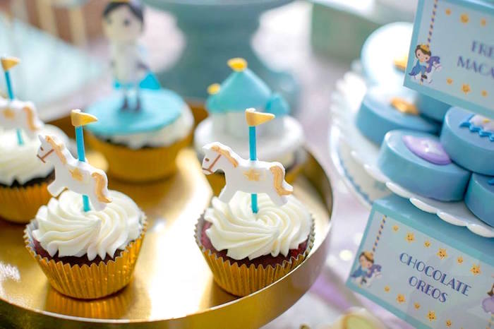 Cupcakes from a Royal Prince Birthday Party on Kara's Party Ideas | KarasPartyIdeas.com (8)