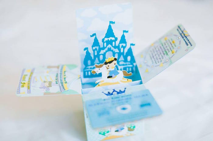 Castle box invitation from a Royal Prince Birthday Party on Kara's Party Ideas | KarasPartyIdeas.com (7)