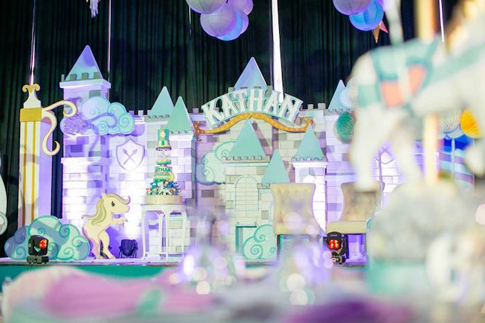 Castle backdrop from a Royal Prince Birthday Party on Kara's Party Ideas | KarasPartyIdeas.com (6)