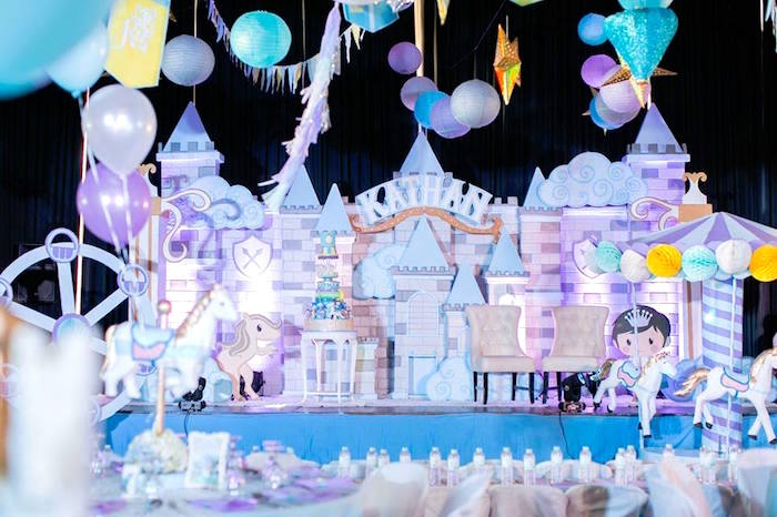 Castle backdrop from a Royal Prince Birthday Party on Kara's Party Ideas | KarasPartyIdeas.com (5)