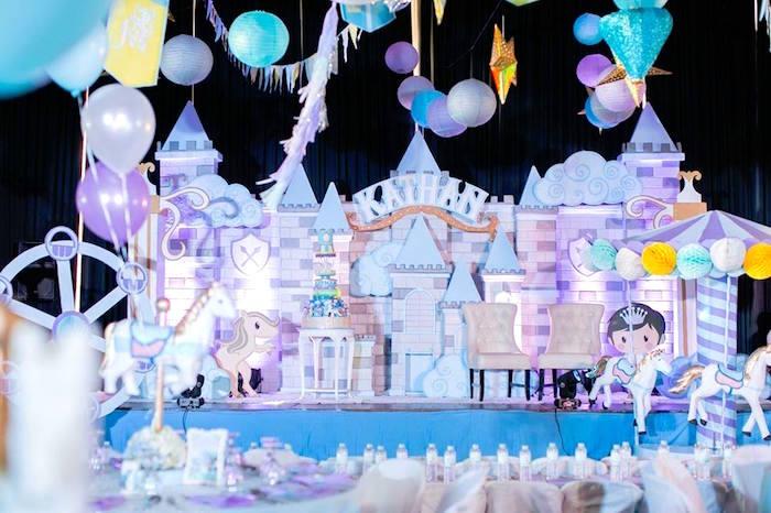 Castle backdrop from a Royal Prince Birthday Party on Kara's Party Ideas | KarasPartyIdeas.com (5)