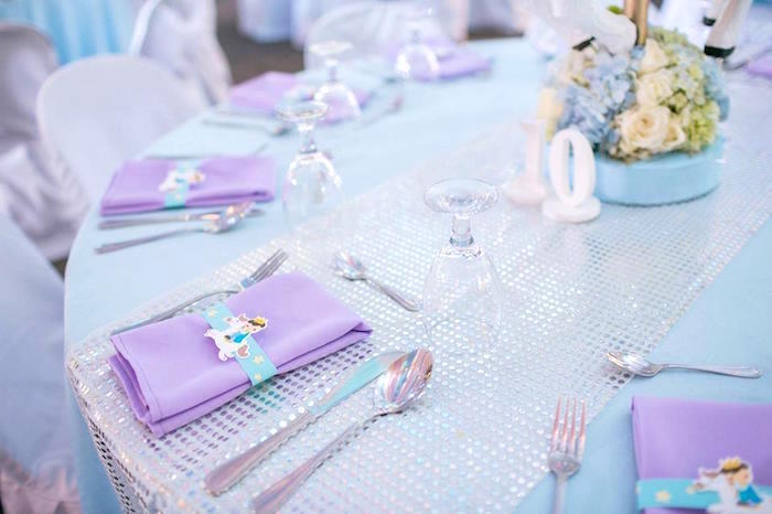 Table settings from a Royal Prince Birthday Party on Kara's Party Ideas | KarasPartyIdeas.com (30)