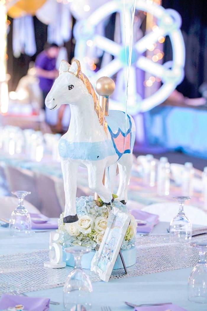 Royal horse centerpiece from a Royal Prince Birthday Party on Kara's Party Ideas | KarasPartyIdeas.com (29)