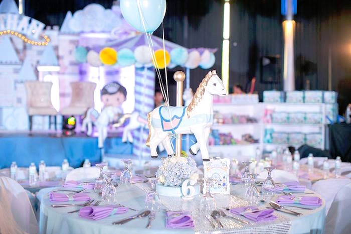 Guest table from a Royal Prince Birthday Party on Kara's Party Ideas | KarasPartyIdeas.com (27)