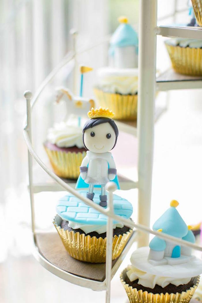 Prince cupcake from a Royal Prince Birthday Party on Kara's Party Ideas | KarasPartyIdeas.com (26)