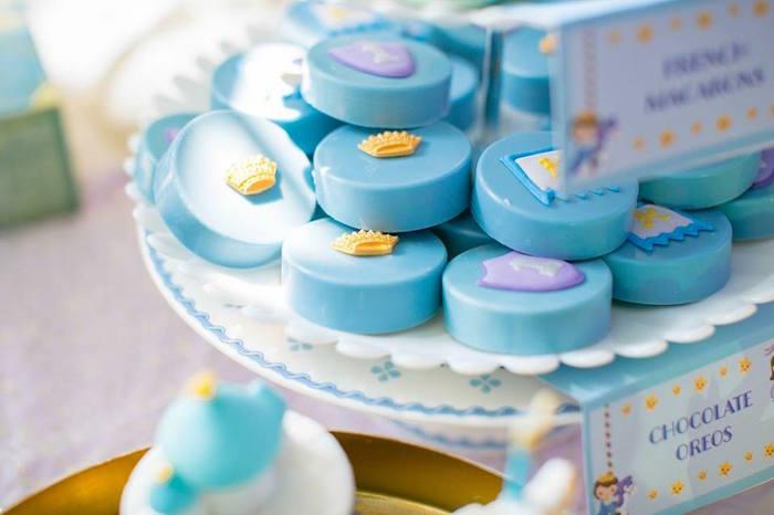 Chocolate covered Oreos from a Royal Prince Birthday Party on Kara's Party Ideas | KarasPartyIdeas.com (24)