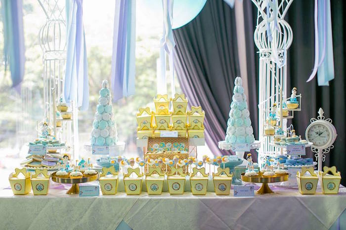 Dessert table from a Royal Prince Birthday Party on Kara's Party Ideas | KarasPartyIdeas.com (23)