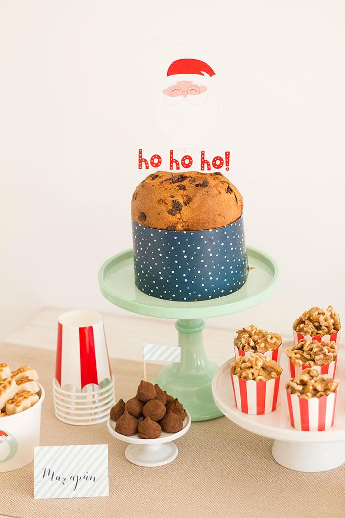 Cake and Caramel Popcorn from Santa's Sweet Table on Kara's Party Ideas   KarasPartyIdeas.com