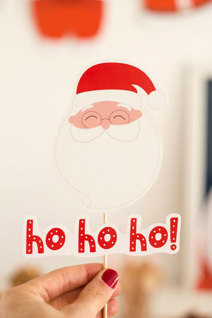 Ho Ho Ho Santa Topper from a Santa's Sweet Table on Kara's Party Ideas | KarasPartyIdeas.com (17)