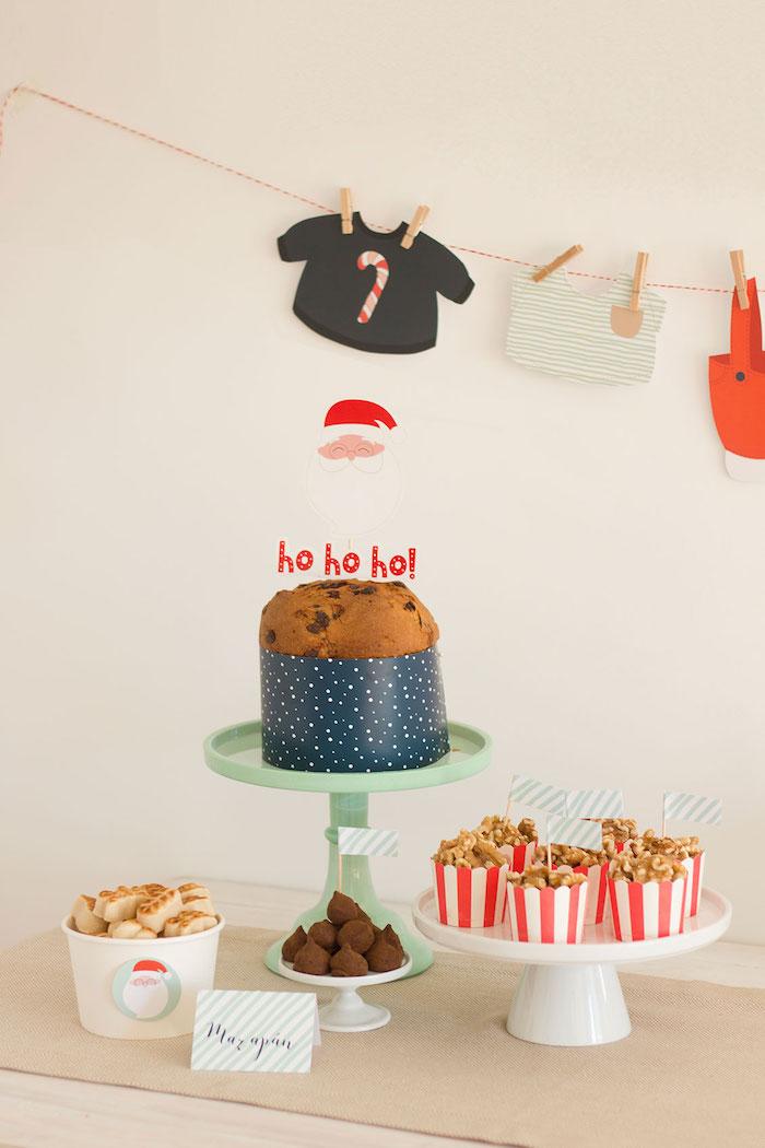 Cakescape from a Santa's Sweet Table on Kara's Party Ideas   KarasPartyIdeas.com (14)