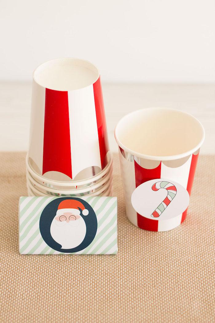 Christmas cups from a Santa's Sweet Table on Kara's Party Ideas | KarasPartyIdeas.com (13)