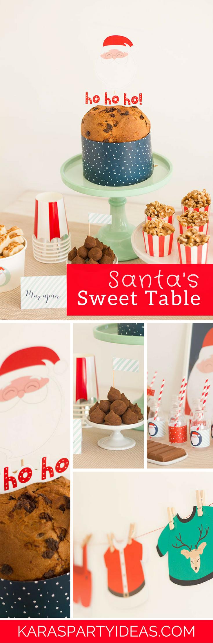 Santa's Sweet Table via Kara's Party Ideas - KarasPartyIdeas.com