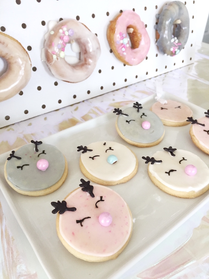 Reindeer cookies from a Shopkins Winter Wonderland Birthday Party on Kara's Party Ideas | KarasPartyIdeas.com (8)