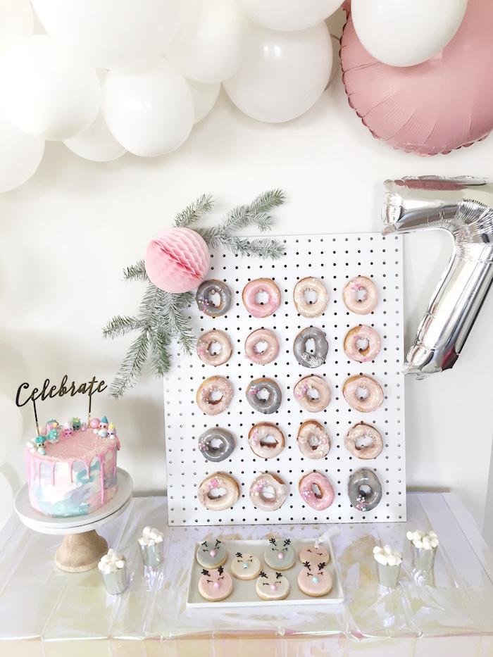 Dessert table from a Shopkins Winter Wonderland Birthday Party on Kara's Party Ideas | KarasPartyIdeas.com (5)