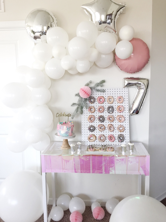 Sweet spread from a Shopkins Winter Wonderland Birthday Party on Kara's Party Ideas | KarasPartyIdeas.com (15)