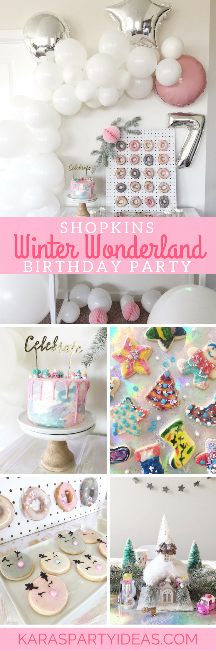 Shopkins Winter Wonderland Birthday Party via Kara's Party Ideas - KarasPartyIdeas.com