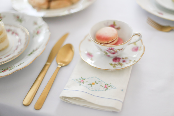 Tea tablescape from a Sweet Autumn 100th Day Tea Party on Kara's Party Ideas | KarasPartyIdeas.com (11)