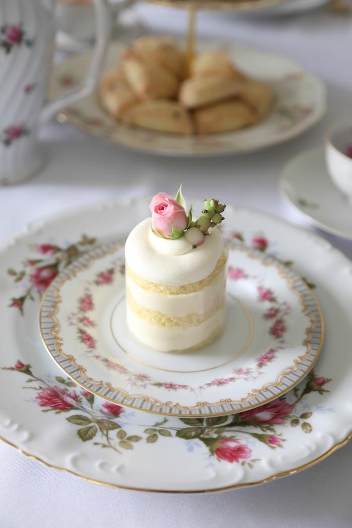 Floral mini cake from a Sweet Autumn 100th Day Tea Party on Kara's Party Ideas | KarasPartyIdeas.com (19)