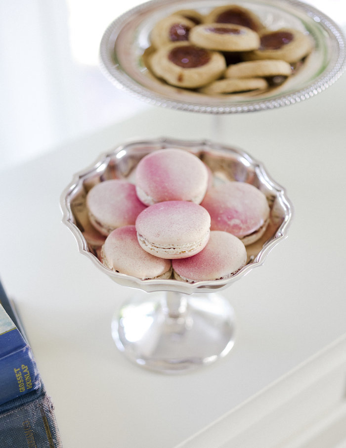 Pink ombre macarons from a Sweet Autumn 100th Day Tea Party on Kara's Party Ideas | KarasPartyIdeas.com (17)