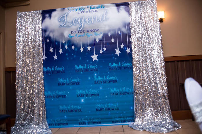 Twinkling Star Photo Booth from a Twinkle Twinkle Little Star Baby Shower on Kara's Party Ideas | KarasPartyIdeas.com (4)