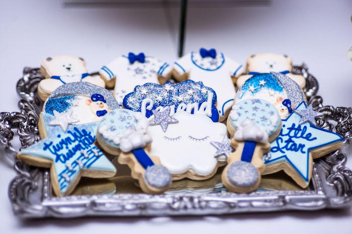 Cookies from a Twinkle Twinkle Little Star Baby Shower on Kara's Party Ideas | KarasPartyIdeas.com (2)