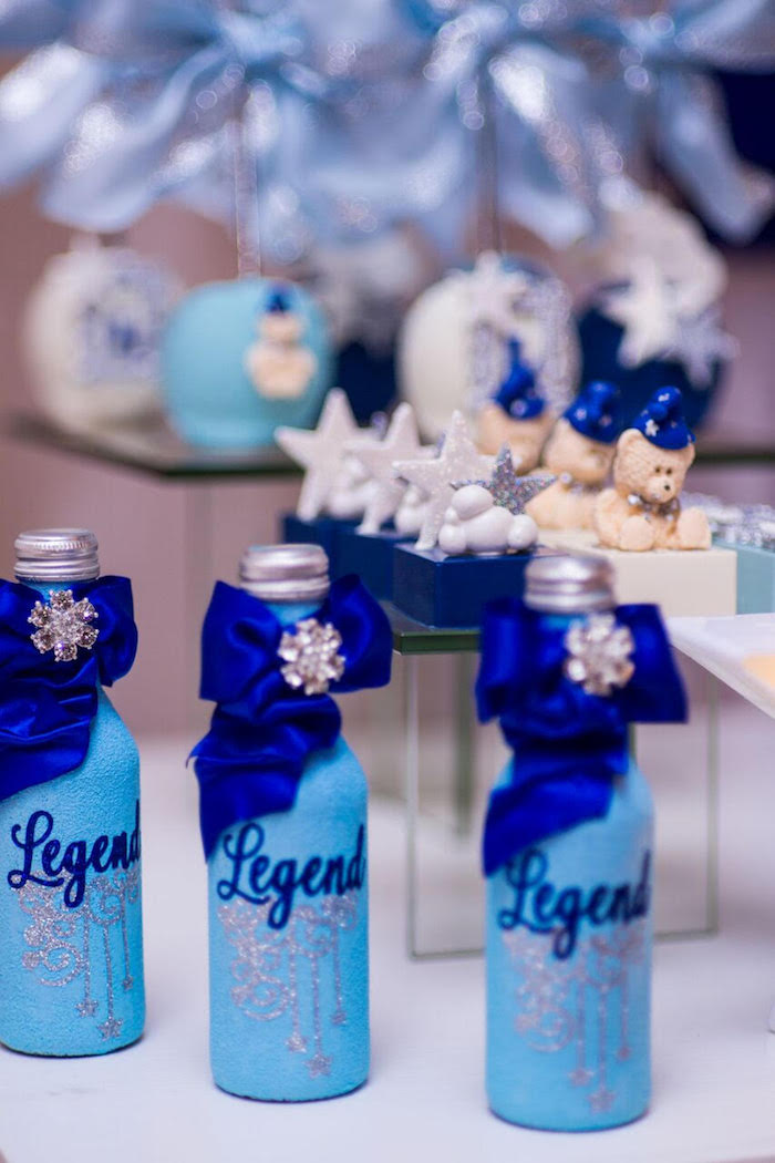 Drink bottles from a Twinkle Twinkle Little Star Baby Shower on Kara's Party Ideas | KarasPartyIdeas.com (14)