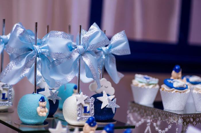 Cake pops from a Twinkle Twinkle Little Star Baby Shower on Kara's Party Ideas | KarasPartyIdeas.com (13)