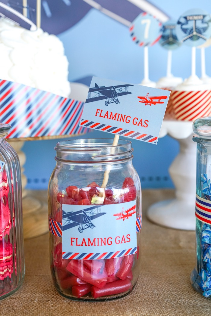 Flaming Gas Licorice Sticks from a Vintage Aviation + Travel Party on Kara's Party Ideas | KarasPartyIdeas.com (24)
