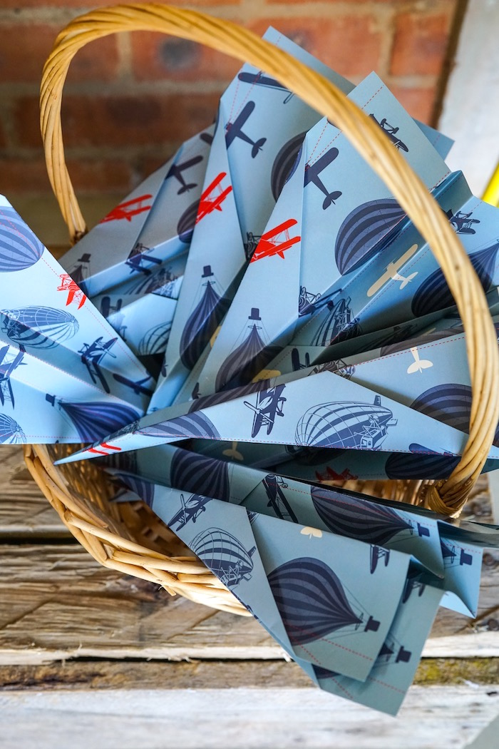 Paper airplanes from a Vintage Aviation + Travel Party on Kara's Party Ideas   KarasPartyIdeas.com (18)