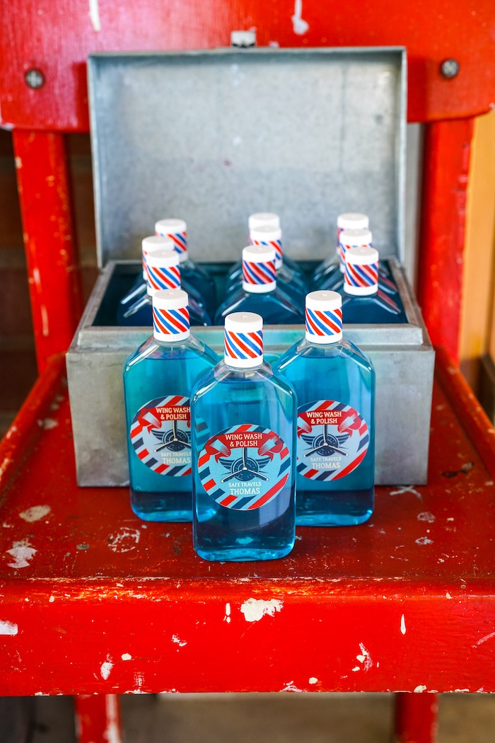 Favor bottles from a Vintage Aviation + Travel Party on Kara's Party Ideas   KarasPartyIdeas.com (12)