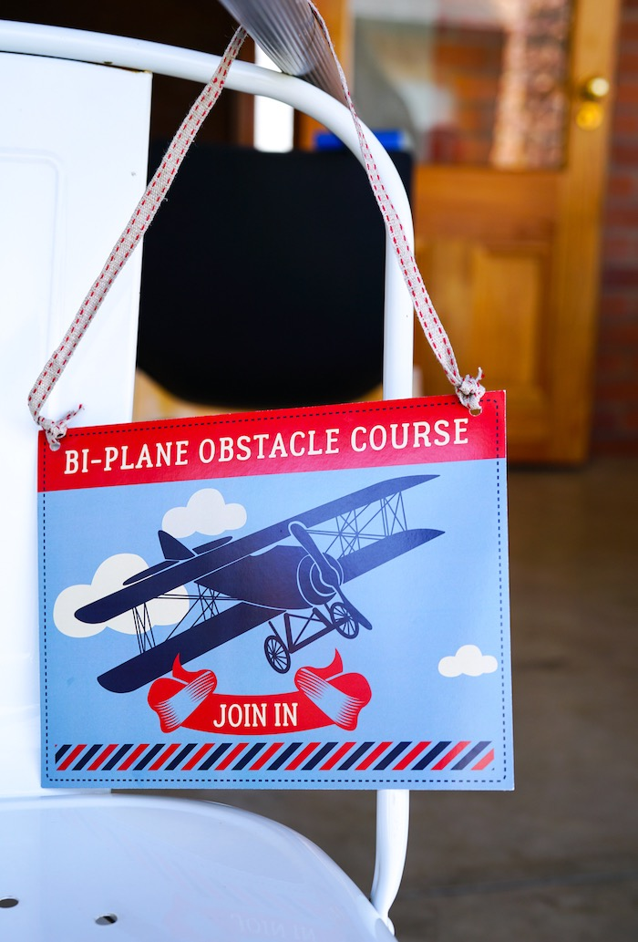 Signage from a Vintage Aviation + Travel Party on Kara's Party Ideas | KarasPartyIdeas.com (11)